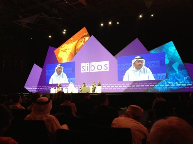 CEO of Al Fardan Exchange Osama Al Rahma speaks during Financial Inclusion session at Sibos 2013.