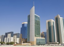 Financial district in Doha, Qatar