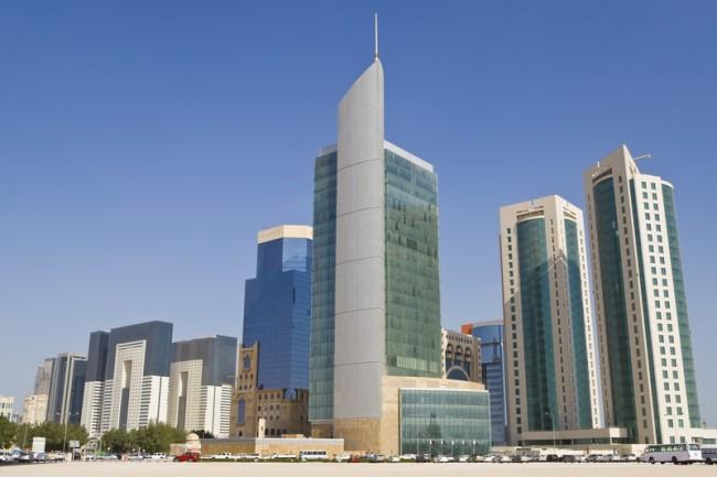 Financial district in Doha, Qatar