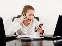 Woman frustration