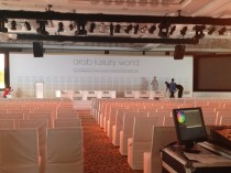 Final preparations for ALW2014 at Westin Dubai Mina Seyahi Beach Resort on Sunday evening.