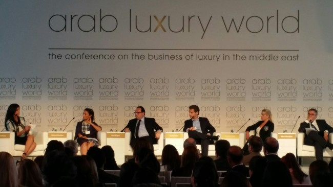 Panelists discuss market potential of the luxury sector in the Middle East.