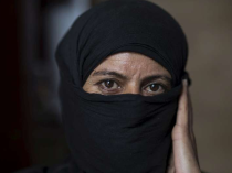 Sabah, 45, from Homs, Syria, has been living in Tripoli, Lebanon, for the past five months. Photo: UNHCR/L.Addario