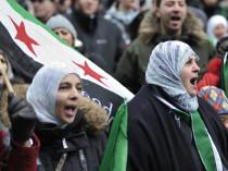 Protest against Syrian President Bashar Al Assad's regime.