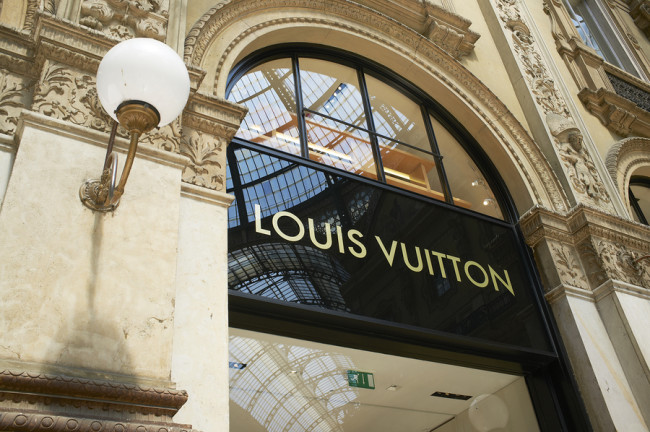 Milan, Lombardy, Italy, May 28: Louis Vuitton luxury fashion bra