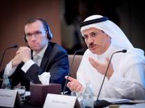 Sultan Al Mansoori (right) addressing the media in Dubai ahead of the Summit on Global Agenda