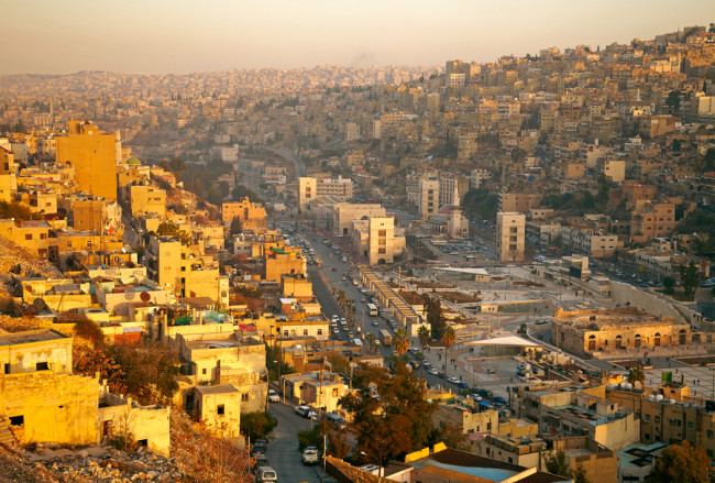 General view of the Jordanian capital city Amman.