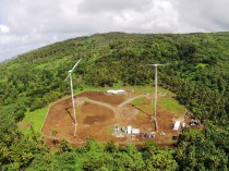 Wind farm project in Samoa.