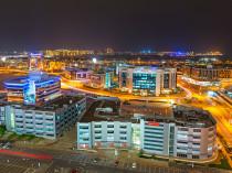 DUBAI, UAE - 3 APRIL 2014: Technology park in Dubai Internet Cit