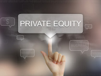 Hand Clicking On Private Equity Button