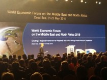 World Economic Forum on the Middle East and North Africa underway on the banks of the Dead Sea.