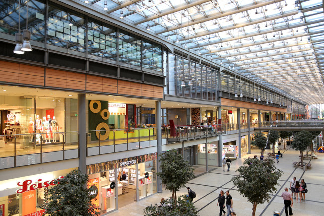 Potsdamer Platz Arkaden Shopping Mall In Berlin