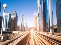 Dubai Metro. Great view of the city. UAE