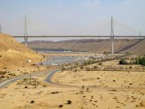 Road trough the desert. Riyadh-Mecca highway in Saudi Arabia