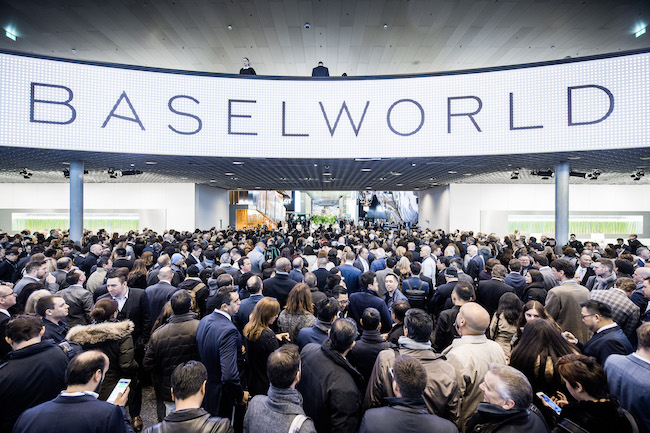 Main hall at the Baselworld 2016