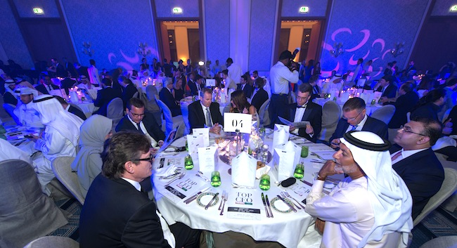 CEOs and attendees at the last year's Top CEO awards evening in Dubai.